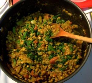 linte cu curry